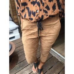 Pantalon effet velours camel